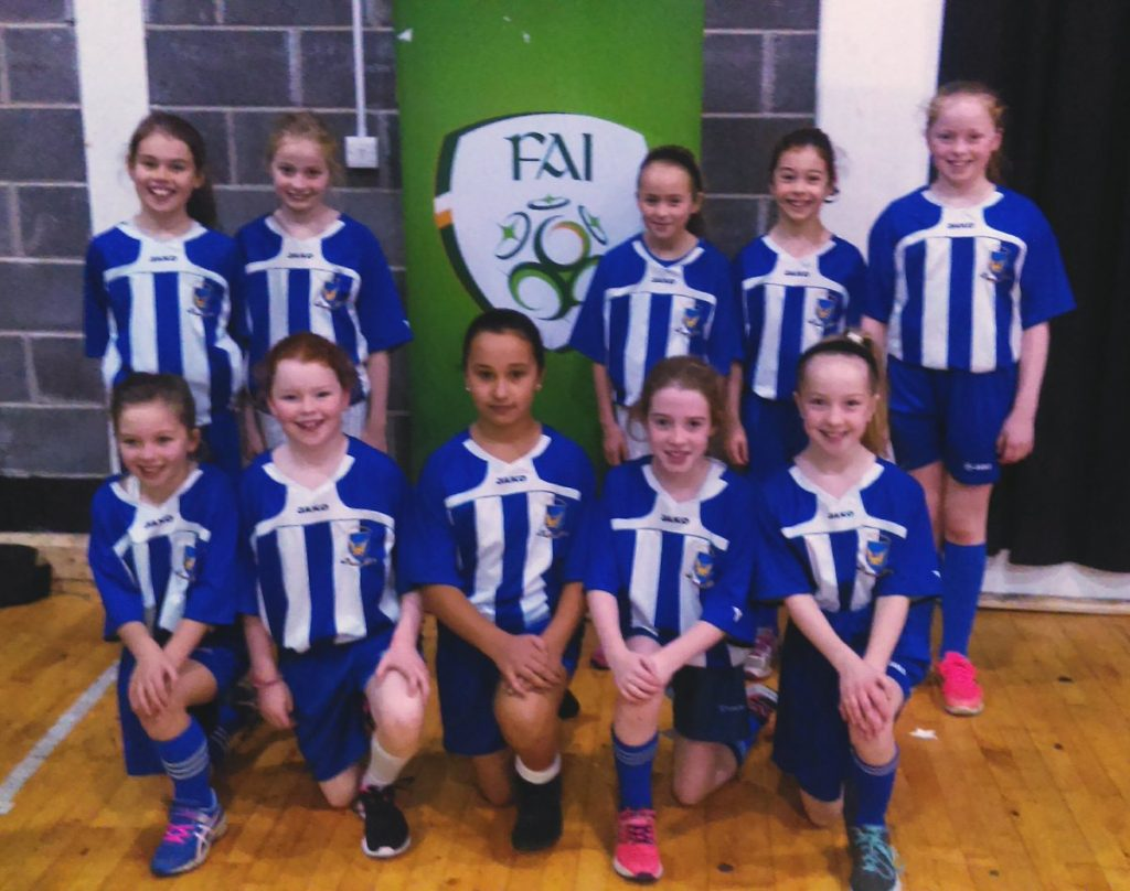 A fantastic performance today by our Fourth Class girls in the @faischools mayo futsal in Breaffy Arena, winning 4 games and narrowly losing in the final. Well done ladies!