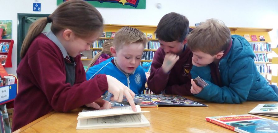 Second Class from Breaffy NS on Time To Read Library Visit today with Ms Mannion , Ms Nestor & Ms Ryder. This is a 20 week reading initiative with Mayo County Council volunteers