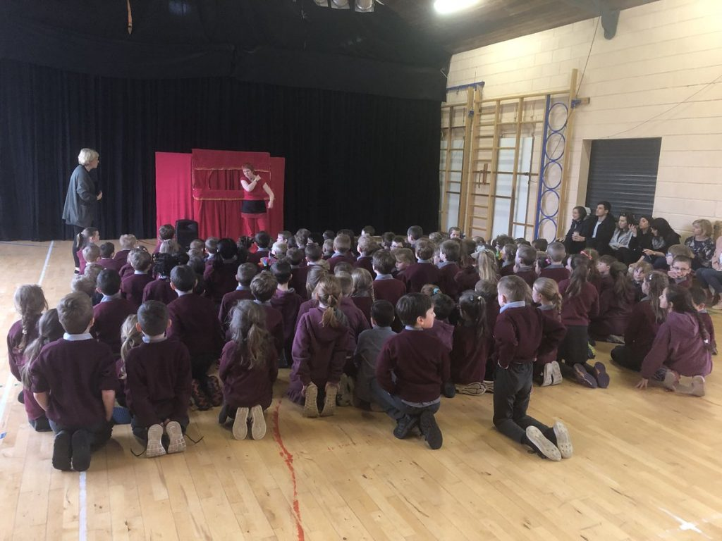 Puppet Workshop for junior classes with puppeteer Carmel Balfe organized by Deputy Principal Mairead Murphy