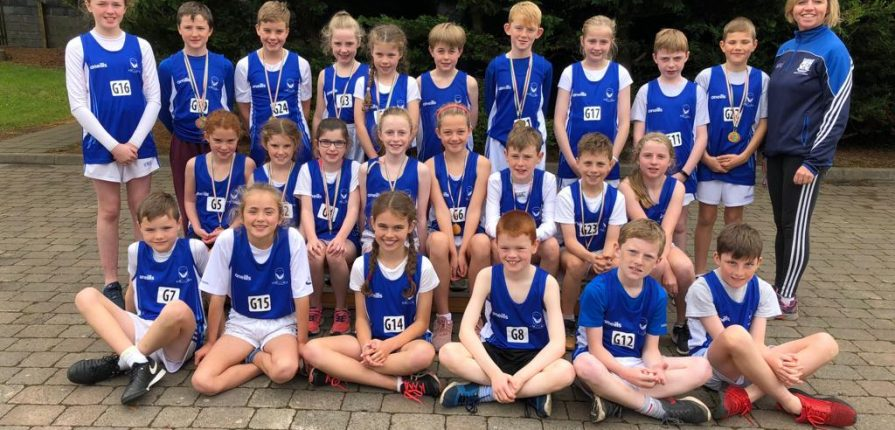 Our 2018 Cross country teams wearing their new Athletics singlets . Our teams enjoyed great success today at the west mayo cross country event held in Ballyvary. Our 3rd/4th girls team won gold as did our 5th/ 6th boys . 6th . A special congratulations to all our individual winners; Niamh Moran Emily Moran Sarah Jane Bourke Aoibheann Hanrahan Alan Hegarty Jack Canny Conor Loftus Ross Connolly