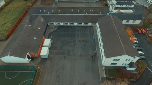 Drone Image of Breaffy School