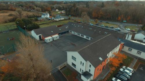 Drone image of school