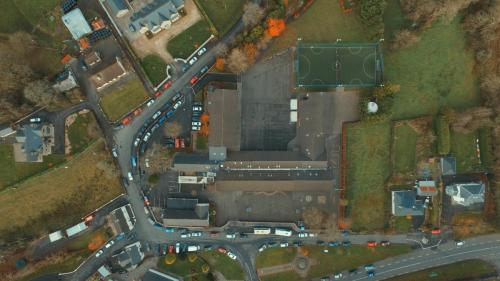 Aerial view of our campus