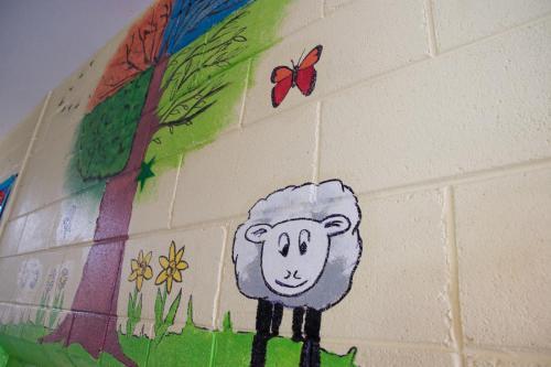 Mural in Infant Corridor